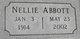 Profile photo:  Nellie <I>West</I> Abbott