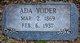 Profile photo:  Ada Yoder
