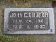 Profile photo:  John E. Church