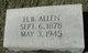 "Profile photo:  Horace Bernard ""Bun"" Allen"