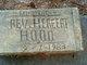 Rev Herbert Hood