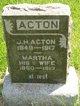 Mary Martha <I>Hamilton</I> Acton