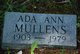 Profile photo:  Ada Ann Mullens