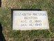 Elizabeth <I>Preston</I> Benton