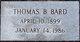 "Profile photo:  Thomas Baxter ""Tom"" Bard"