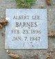 Profile photo:  Albert Lee Barnes