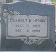Sgt Charles W. Henry