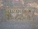 Elizabeth Betheland <I>Willcox</I> Wallis
