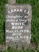 Sarah I   E White