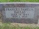 "Frances Pamelia ""Fannie"" <I>Williams</I> Dallas"