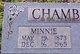 Profile photo:  Minnie Chamberlain