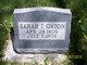 Sarah Ann <I>Taylor</I> Orton