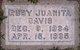 Profile photo:  Ruby Juanita Davis