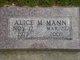 Alice M Mann