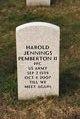Profile photo:  Harold Jennings Pemberton, II