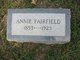 Annie <I>Lunsford</I> Fairfield