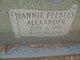 Profile photo:  Fannie <I>Peebles</I> Alexander