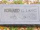 Edward Gustav Lang