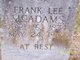 "Frances Lee ""Frank"" McAdams"