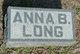 Anna Belle <I>Long</I> Newcomer