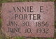 Profile photo:  Annie E. <I>Smith</I> Porter