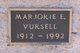 Profile photo:  Marjorie E Vursell