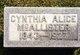 Profile photo:  Cynthia Alice McAllister