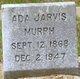 Profile photo:  Ada <I>Jarvis</I> Murph