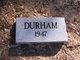 Profile photo:  Durham