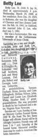 Profile photo:  Betty L <I>Lentner</I> Lee