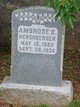 Profile photo:  Ambrose B. Hershberger