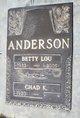 """Elizabeth Lou """"Betty"""" <I>Barnard</I> Anderson"""