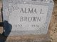 Profile photo:  Alma L Brown