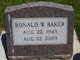 """Ronald Wayne """"Ron"""" Baker"""