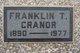 """Franklin Theodore """"Frank"""" Cranor"""