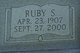 Ruby Flora <I>Strawn</I> Turner