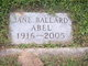Profile photo:  Jane <I>Ballard</I> Abel