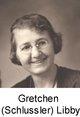 Profile photo:  Gretchen Pauline <I>Schlussler</I> Libby