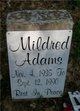 Profile photo:  Mildred Adams
