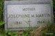 Josephine M <I>McManus</I> Martin