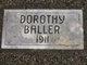 Profile photo:  Dorothy Baller