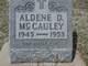 Aldene D McCauley
