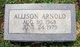 Profile photo:  Allison Arnold