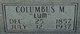 """Columbus M. """"Lum"""" Clayton"""
