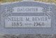 Profile photo:  Nellie M BeVier