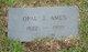 Profile photo:  Opal J. <I>Defore</I> Ames
