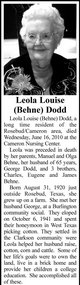 Leola Louise <I>Behne</I> Dodd