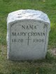 """Mary """"Nana"""" <I>Smith</I> Cronin"""