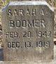 Profile photo:  Sarah A <I>Winfield</I> Boomer