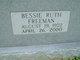 Bessie Ruth <I>Freeman</I> Hester